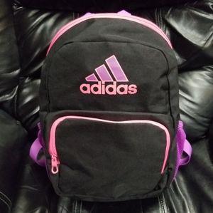 "Adidas 16"" Tall Black Pink and Purple Backback"